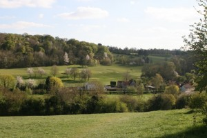 Harpsden valley and the golf course